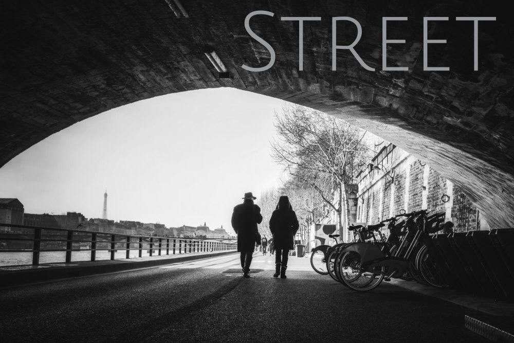 photographe de rue noir et blanc Jacques Julien