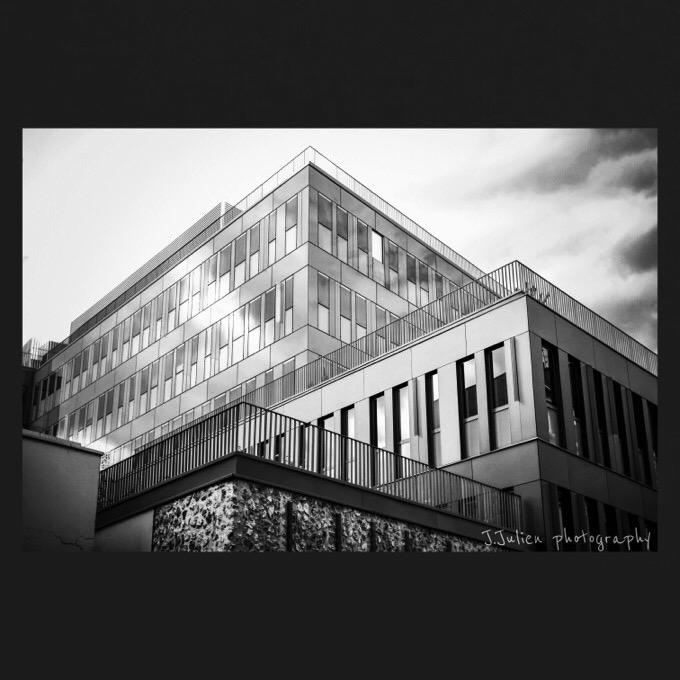 Modern Building Futuristic B&W picture