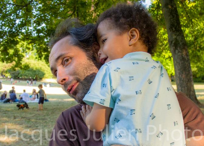 photo famille père et fils