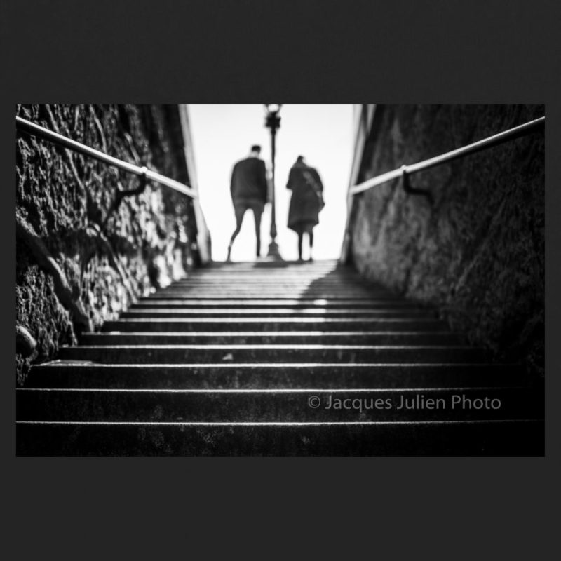 escaliers Photographie noir et blanc