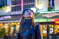woman in Paris street